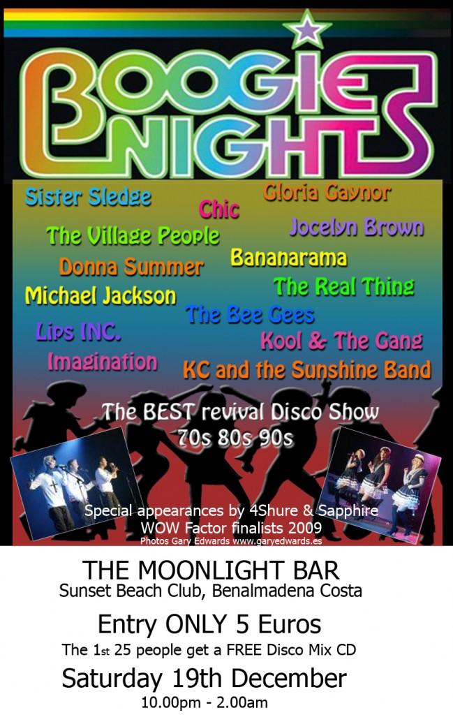 BN moonlight sunset poster