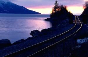 Turnagain Arm Train Tracks