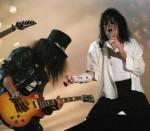 Michael Jackson with Guns n Roses guitarist Slash, Marbella, 1988