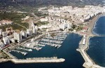 Estepona's marina is one of many areas affected by sudden floods on Thursday