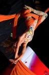 Patricia Nahmad fashion show acrobat