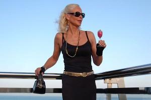Inge Rinkhoff enjoying a drink
