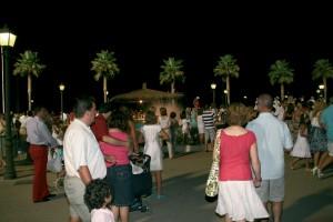 Hipódromo de Mijas plaza nighttime
