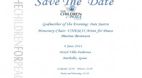 Save the Date - The Children For Peace ONLUS - Marbella