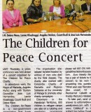 The Children for Peace Concert – 23rd June at the Puente Romano Marbella