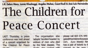 The Children for Peace Concert - 23rd June at the Puente Romano Marbella