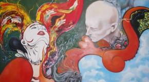 The imaginative art of Natalia Andrea Zapata Londoño presented at the Guey Restaurant