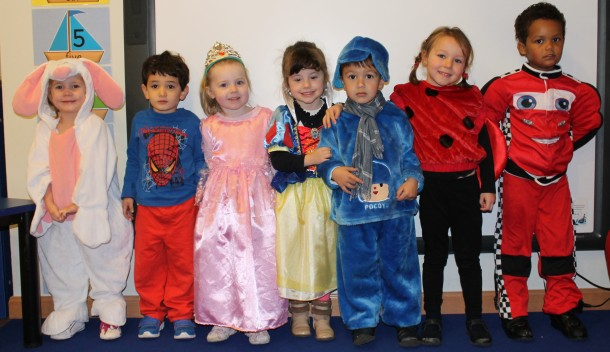 Nursery left-to-right, Fjordess, Luca, Olivia, Gabriela, Alexander, Adrianna,andGregory