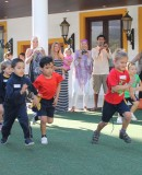Sun Shines on Children's Sports Day