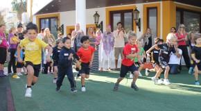 Sun Shines on Children's Sports Day