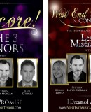 """West End Musicals In Concert"" and ""Encore!"" – The 3 Tenors – New Performance Dates May and June"