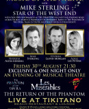 Special Event – Music Of The Night – The Return Of The Phantom – Tikitano – Friday 30th August – Exclusive & One Night Only