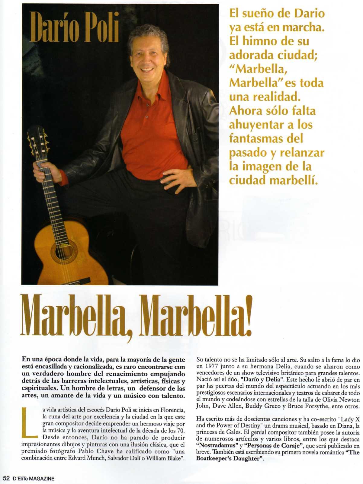 Yanela Brooks Sings Marbella Marbella At Hotel Incosol