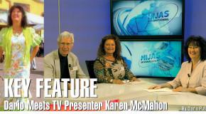 Dario Meets TV Presenter Karen McMahon