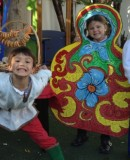 Reception Class in colourful costumes