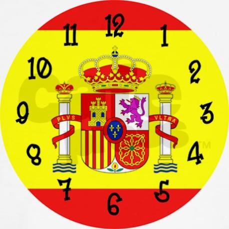 spain_flag_wall_clock