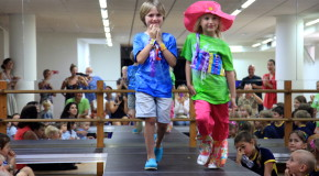 Fashionistas on the catwalk at BSM