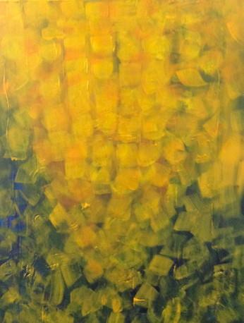 Cascade 20__x 16__x 1__Acrylic on canvas by Iris Low
