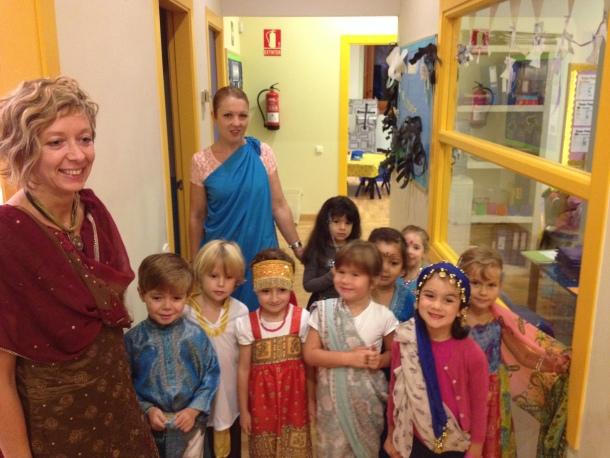 Nursery children dressed up for Diwali