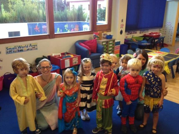 Pre-nursery children dressed up for Diwali.