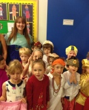 Reception children dressed up for Diwali