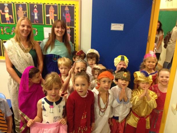 Reception children dressed up for Diwali