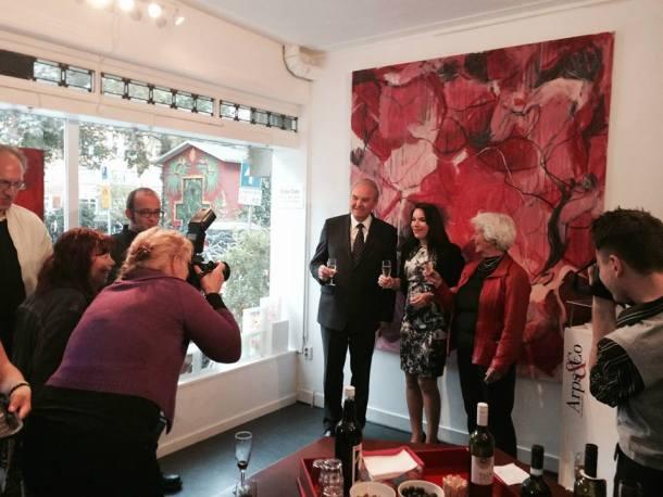 Masa Gala - Arps Gallery Amsterdam with ambassador Roman Kirn