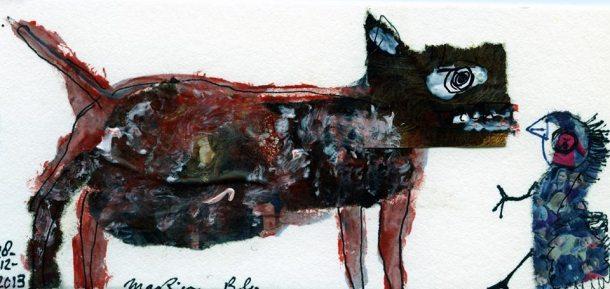 Marion Bloem - 16, collage op papier 2013