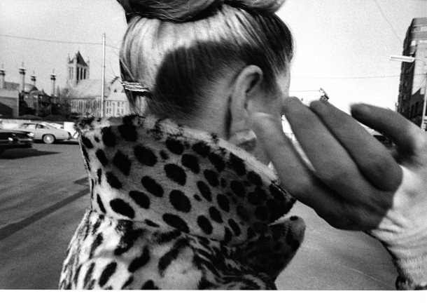 Mark Cohen -Ear, hand, leopard, coat, 1975-