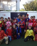 Youngsters at BSM dressed in colourful Chinese clothes