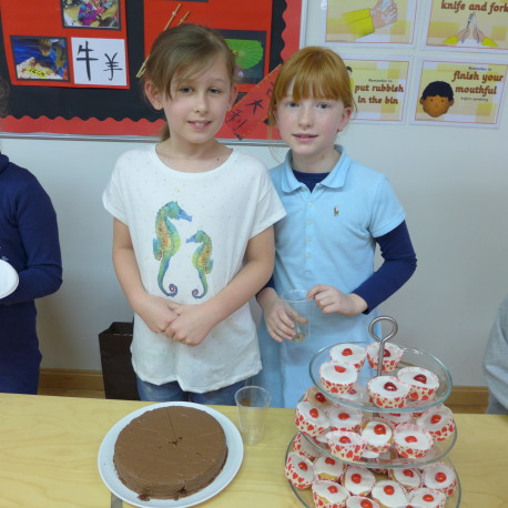 Two of the budding chefs at BSM