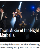 Talk of the Town – ´Music of the Night´ returns to Marbella.
