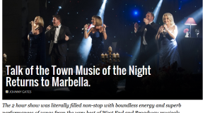 Talk of the Town � ´Music of the Night´ returns to Marbella.