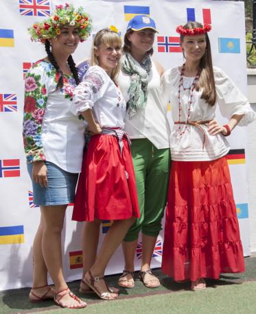 Glamorous mums at the Summer Fair