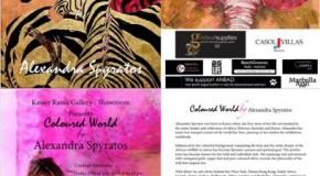 Kasser Rassu Gallery-Showroom presents  COLOURED WORLD by Alexandra Spyratos