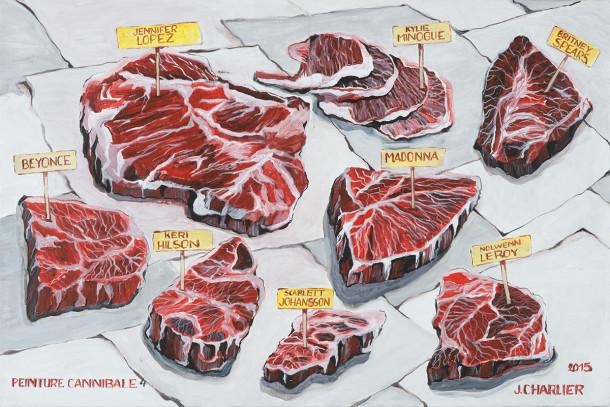 Jacques Charlier - 8, peinture cannibale 4