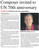 Euro Weekly News - Composer Invited to UN 70th Anniversary