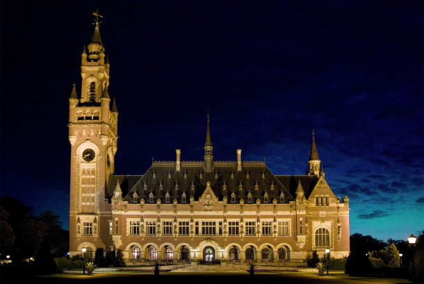 The Peace Palace by Night - The Hague