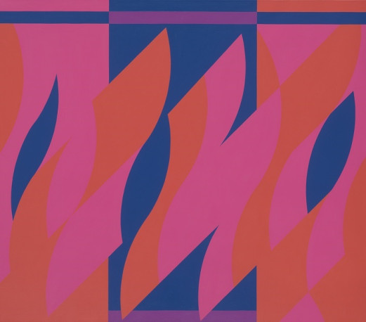 bridget riley - MB 10, Two Reds with Violet