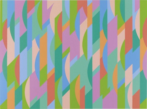 bridget riley - MB 5, lagoon 2
