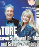 Key Feature – Dario Meets Sharon Stone and Dr Mary Atkin at the Peace, Justice and Security Foundation Gala