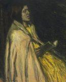 robertson - lezen meisje geel, kl