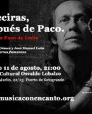 "MÚSICA CON ENCANTO PRESENTA ""ALGECIRAS DESPUÉS DE PACO"" Tributo a Paco de Lucía"