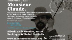 """M�SICA CON ENCANTO PRESENTA-CONCIERTO PARA EL CENTENARIO DE LA MUERTE DE CLAUDE DEBUSSY """"MONSIEUR CLAUDE"""""""
