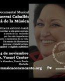 MÚSICA CON ENCANTO PRESENTA CINE DOCUMENTAL MUSICAL EN MEMORIA DE MONTSERRAT CABALLÉ