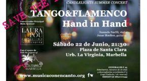 """M�SICA CON ENCANTO PRESENTA CONCIERTO DE VERANO A LA LUZ DE LAS VELAS CANDLELIGHT SUMMER CONCERT """"TANGO&FLAMENCO, HAND IN HAND"""""""