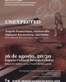 "M�SICA CON ENCANTO Y ESPACIO CULTURAL OSVALDO LOBALZO PRESENTAN ""UNEXPECTED"""